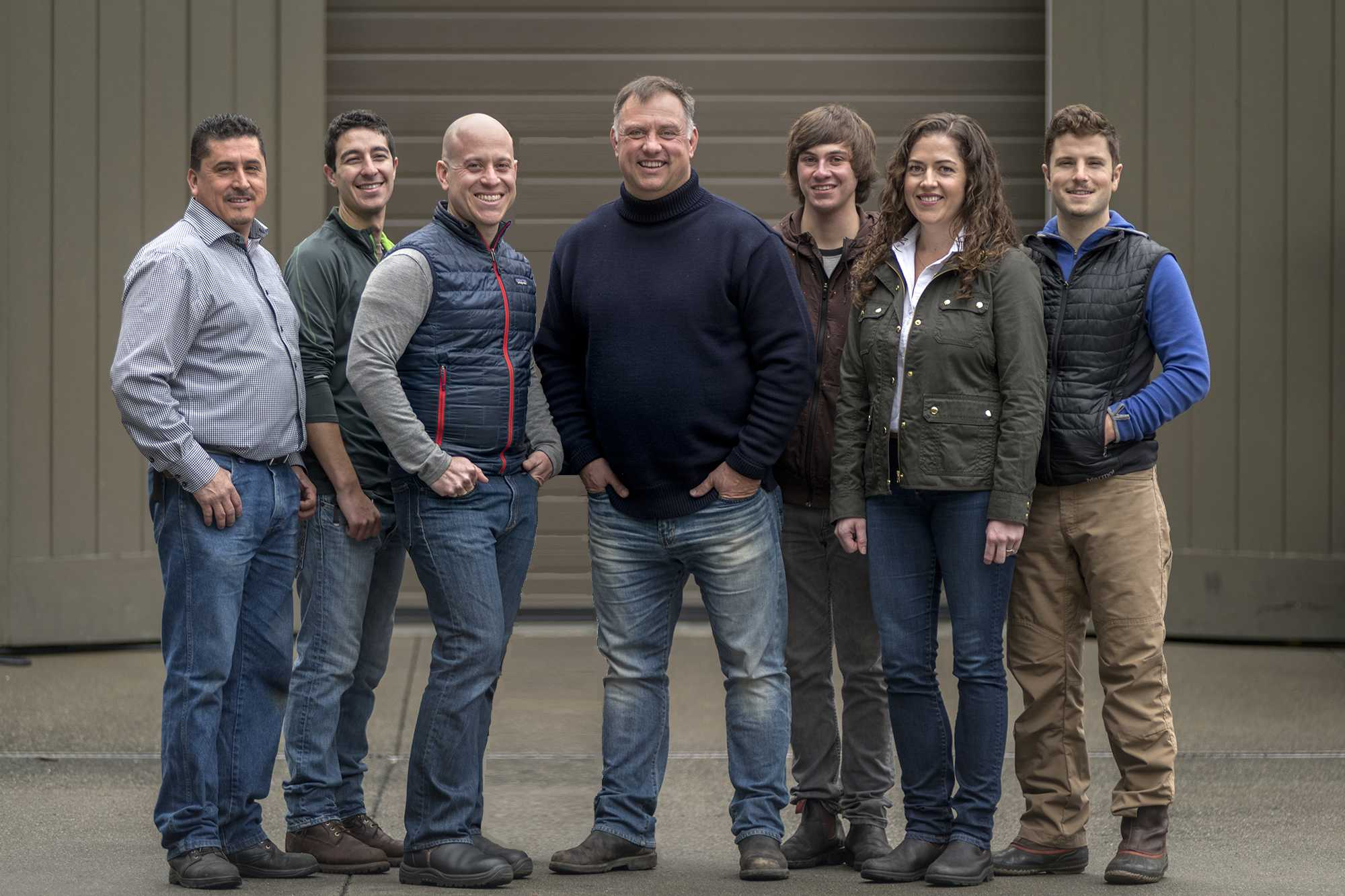 The Olema Team, from left to right: Roberto Barbosa, Matt Gonzalez, Jesse Fox, Tony Biagi, Zander Deetz, Jessica Valenzuela and Dan Pescetti.